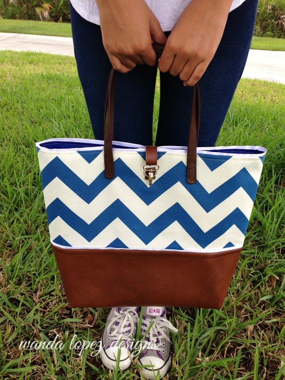 Nautical-Chevron-and-Leather-Tote-WLDesigns-2014